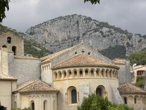 Saint-guilhem-le-desert, a village in herault, languedoc, france stock photos