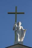 Saint Helena with golden cross Stock Images