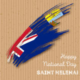 Saint Helena Independence Day Patriotic Design Image libre de droits
