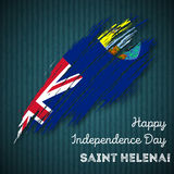 Saint Helena Independence Day Patriotic Design. Royalty Free Stock Image