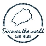 Saint Helena Map Outline. Vintage Discover the. Stock Photos