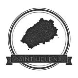 Saint Helena map stamp. Stock Images