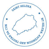 Saint Helena map sticker. Royalty Free Stock Photo
