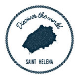Saint Helena map in vintage discover the world. Stock Photography