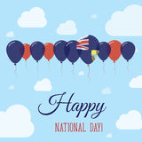 Saint Helena National Day Flat Patriotic Poster. Royalty Free Stock Images