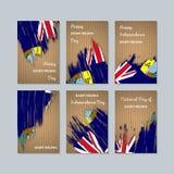 Saint Helena Patriotic Cards para o dia nacional ilustração stock