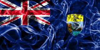 Saint Helena smoke flag, British Overseas Territories, Britain d. Ependent territory flag Stock Photo