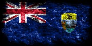Saint Helena smoke flag, British Overseas Territories, Britain d. Ependent territory flag Royalty Free Stock Photo