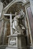 Saint Helena statue inside Saint Peter's. Stock Images