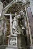 Saint Helena statue inside Saint Peter's. stock images