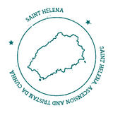 Saint Helena vector map. Royalty Free Stock Images