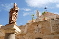 Saint Hieronymus statue in Jerusalem Royalty Free Stock Images