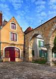Saint Hilaire Square in Le Mans,France Stock Photography