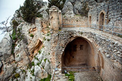 Saint Hilarion Castle in Cyprus. Ruins of Saint Hilarion Castle in Cyprus royalty free stock images