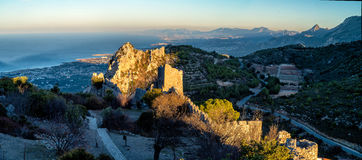 Saint Hilarion Castle, Cyprus. Castle ruins on sunset (Saint Hilarion Castle, Cyprus stock image