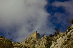 Saint Hilarion Castle in Kyrenia mountain range, North Cyprus Stock Images
