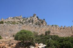 Saint Hilarion Castle ruins. Kyrenia, Northern Cyprus royalty free stock images