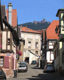 Saint Hippolyte, France. JULY 16: The pretty wine trail village of St.Hippolyte, on July 16th 2013. It is a popular tourist destination in the Alsace, and is Royalty Free Stock Images