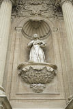 Saint on stone Stock Photography