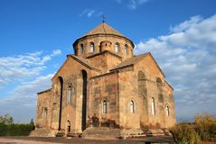 Saint Hripsime Church in Vagharshapat Etchmiadzin, Armenia. Built as a tetraconch in the 7th century stock photos