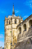 Saint Hubert Chapel at the Amboise Castle in the Loire Valley - France Royalty Free Stock Photography