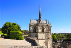 Saint Hubert chapel, Leonardo Da Vinci tomb in Amboise, France Stock Photography