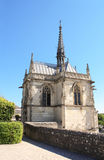 Saint Hubert chapel with Leonardo da Vinci tomb, Amboise, France. Saint Hubert gothic chapel with Leonardo da Vinci tomb, Amboise, Loire Valley, France, Europe Stock Image