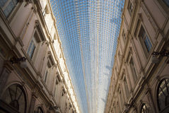 Saint Hubert Galery in Brussels (Belgium). The Galeries Royales Saint-Hubert is a glazed shopping arcade in Brussels that preceded other famous 19th-century Stock Photo
