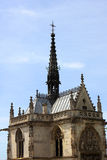 Saint Hubert gothic chapel. Leonardo da Vinci tomb, Amboise, Loire Valley, France Royalty Free Stock Image