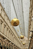 Saint Hubert passage in Brussels decorated for Christmas Royalty Free Stock Photo