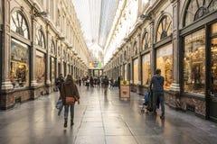 Saint-Hubert royal gallery in Brussels stock photo