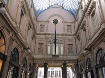 Saint Hubertus Royal Gallery (Brussels, Belgium) stock photography
