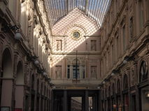 Saint Hubertus Royal Gallery (Brussels, Belgium) stock image