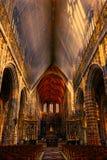 Saint Hubrt& x27;s Church Interior. The Interior of the Cathedral in St Hubert, Belgium. Saint Hubrt& x27;s Church art and structure inside the church at Royalty Free Stock Photos