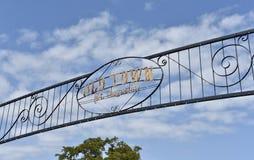 Saint idoso Augustine Sign da cidade, Florida imagens de stock