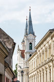 Saint Ignatius church and christian museum in Esztergom, Hungary. Religious architecture. Place of worship. Travel destination. Cultural heritage. Vertical Royalty Free Stock Photos