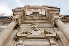Saint Ignatius Church facade in Dubrovnik`s Old Town, Croatia Royalty Free Stock Photography