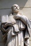 Saint Ignatius of Loyola. On the portal of Saint James church in Ljubljana, Slovenia Stock Photography