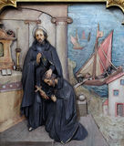Saint Ignatius sends Saint Francis Xavier in the mission Royalty Free Stock Photos