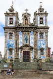 Saint Ildefonso church tiled facade in Porto, Portugal stock photography