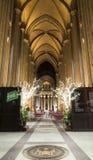 Saint intérieur John Divine Church au temps de Noël Photographie stock libre de droits