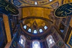 Saint interno Sófia em Istambul imagens de stock royalty free
