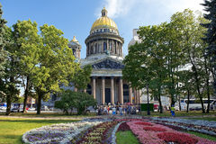 Saint Isaac Cathedral In St Petersburg, Architect Auguste De Montferrand Stock Photo