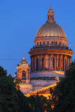 Saint Isaac Cathedral at Night, Saint Petersburg, Russia Royalty Free Stock Photography