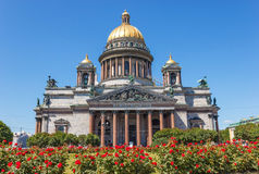 Saint Isaac Cathedral in Petersburg Royalty Free Stock Photos