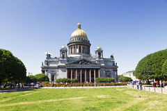 Saint Isaac Cathedral in Saint Petersburg Stock Images