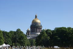 Saint Isaac cathedral in St Petersburg Royalty Free Stock Images