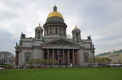 Saint Isaac cathedral in St Petersburg Stock Photo