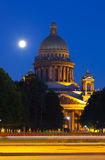 Saint Isaac's Cathedra in summer night Royalty Free Stock Photography