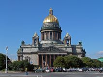 The saint isaac's cathedral. Saint-petersburg. russsia. the saint isaac's cathedral Stock Photos